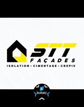 Création de logo et identité visuelle professionnelle STT FACADES