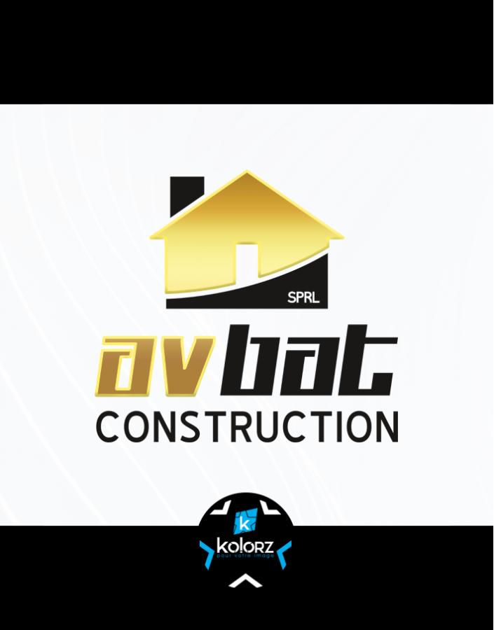 Création de logo et identité visuelle professionnelle AV-BAT CONSTRUCTION