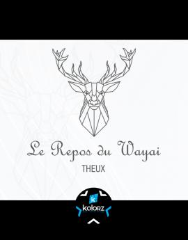 Création de logo et identité visuelle professionnelle LE REPOS DU WAYAI