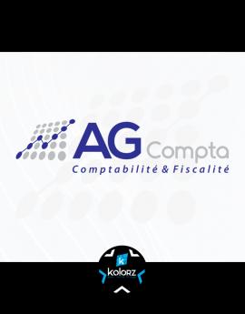 Création de logo et identité visuelle professionnelle AG COMPTA