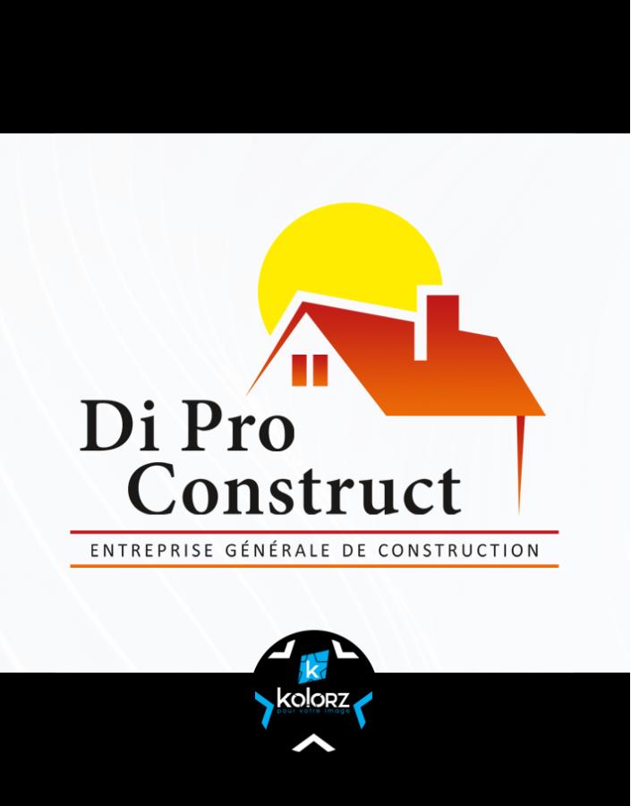 Création de logo et identité visuelle professionnelle DI PRO CONSTRUCTION