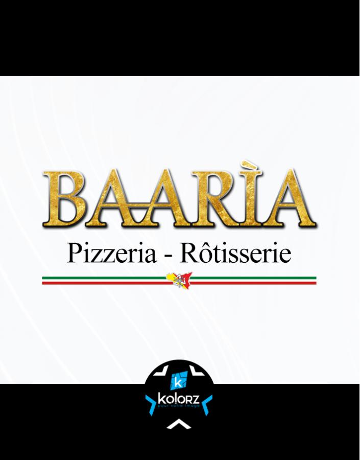 Création de logo et identité visuelle professionnelle BAARIA PIZZERIA RÔTISSERIE