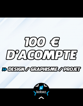 Acompte design / graphisme...