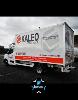 Lettrage camionnette KALEO CONSTRUCT