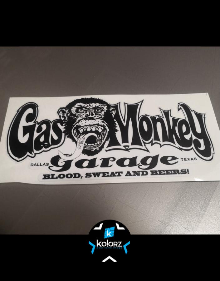 Stickers GAS MONKEY 32 cm