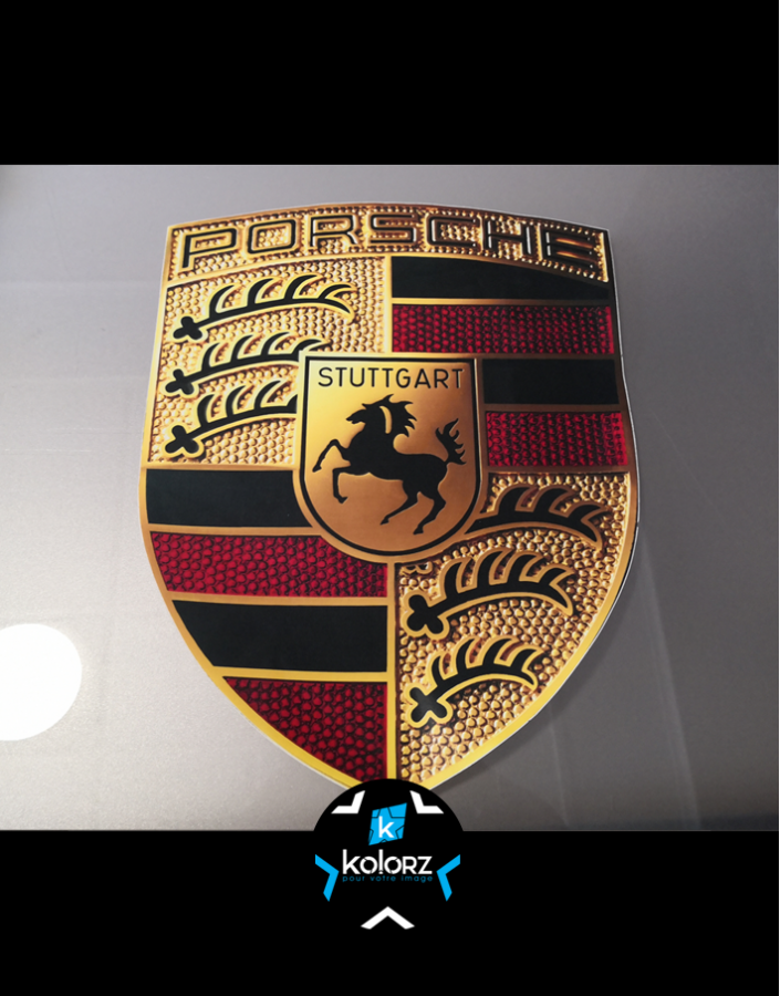 Stickers logo Porsche 43 cm de haut