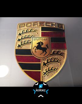 Stickers logo Porsche 21 cm de haut