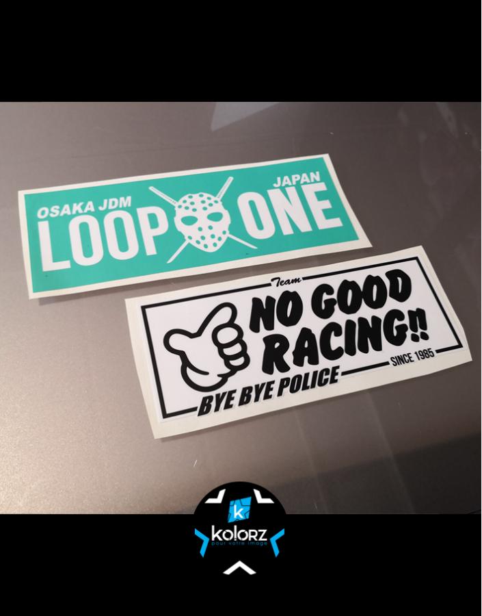 Stickers NO GOOD RACING et LOOP ONE