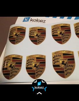 Stickers logo Porsche 6 cm de haut