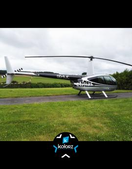 Lettrage hélicoptères ETHIAS / QTEAM